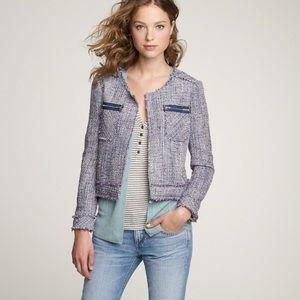 J Crew   Purple Rialta Tweed Jacket Size 4
